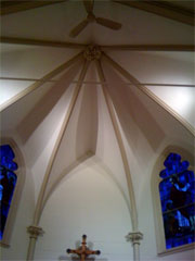 Church Ceiling - plasterwork by Avalance Plastering of CT